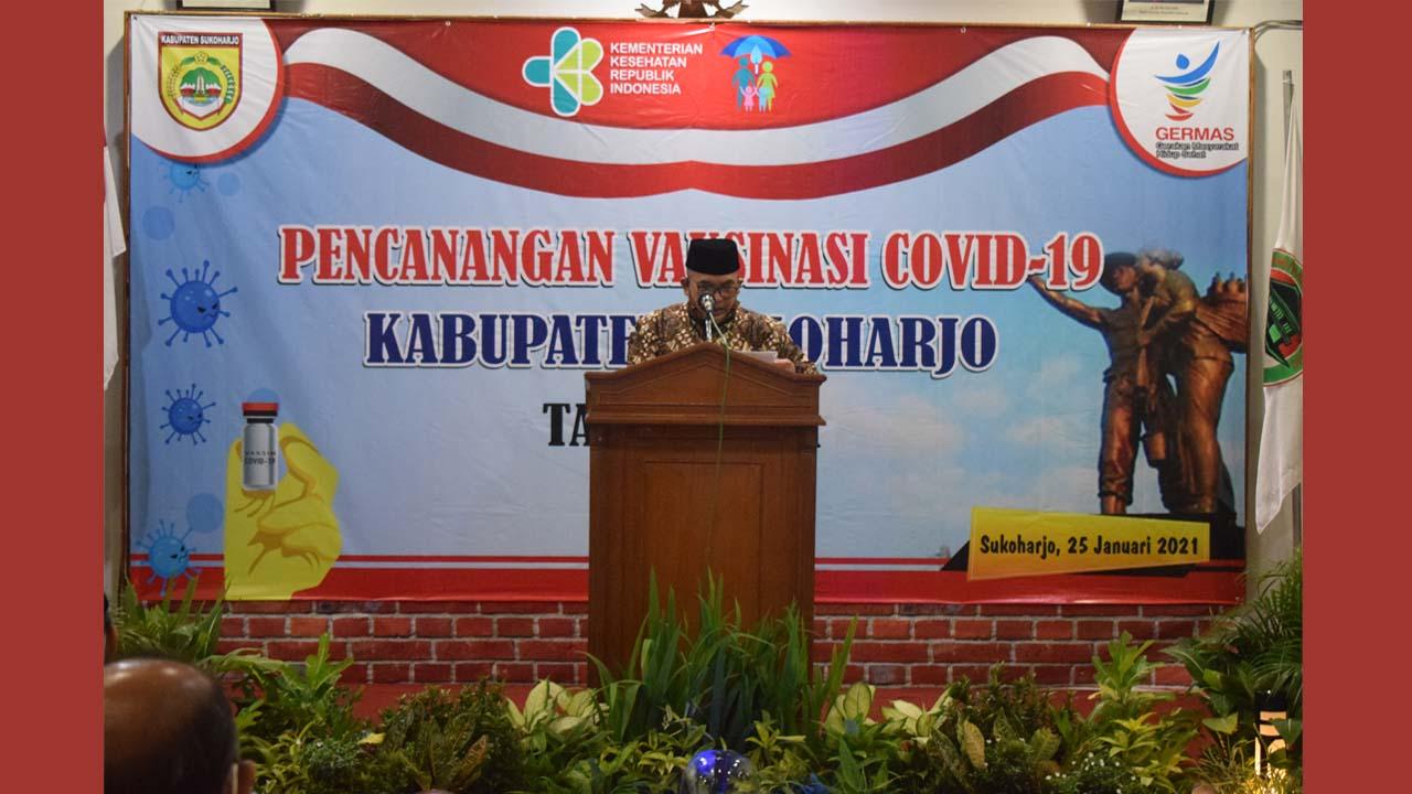 Pencanangan Vaksinasi Covid-19 di Kab. Sukoharjo Dilaksanakan di RSUD Ir. Soekarno Sukoharjo